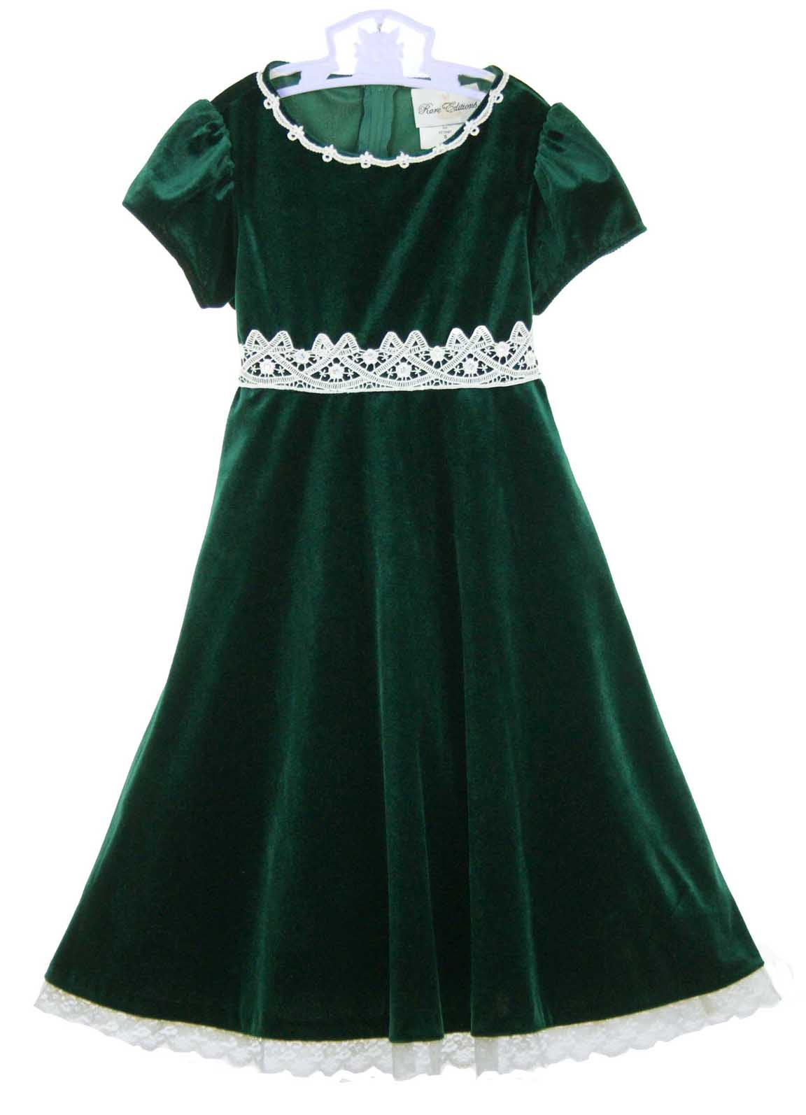 Rare Editions Christmas dress,green velvet Christmas dress,green ...