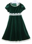"<img src=""https://p11.secure.hostingprod.com/@grammies-attic.com/ssl/images/blue-sold-1.gif"">  NEW Rare Editions Green Velvet Dress with Ivory Lace and Sequin Trim"