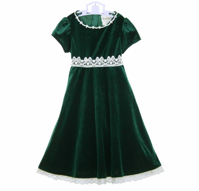 Rare Editions Christmas Toddler.Rare Editions Christmas Dress Green Velvet Christmas Dress