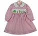 NEW Rare Editions Pink Checked Smocked Dress with Princess Embroidery