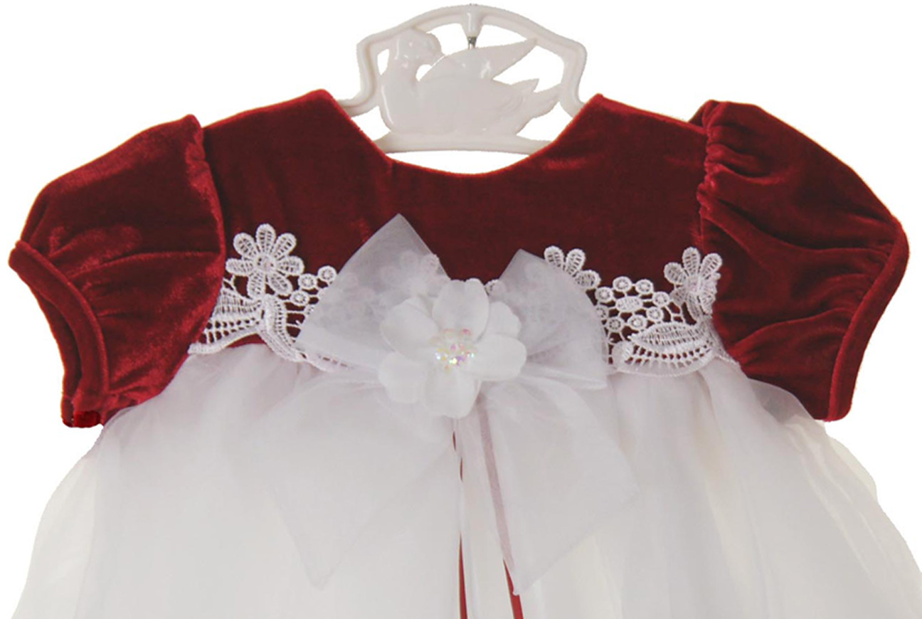 Rare Editions Christmas dress,red velvet Christmas dress,red velvet ...