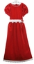 NEW Rare Editions Red Velvet Dress with Lace Trimmed Waist and Hem