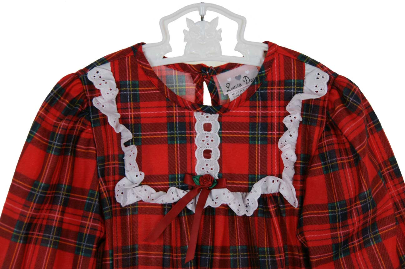 red plaid Christmas nightgown,holiday nightgown,red plaid ...