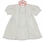NEW Remember Nguyen (Remember When) Antique White Cotton Dress with Lace insertion and Embroidery and Matching Pantaloons