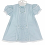 NEW Remember Nguyen (remember When) Blue Cotton Dress with Lace Insertion and Embroidery and Matching Pantaloons