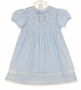 NEW Remember Nguyen (Remember When) Heirloom Style Blue Cotton Dress with Lace Insertion and Embroidery