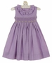 "<img src=""http://site.grammies-attic.com/images/blue-sold-1.gif""> NEW Remember Nguyen (Remember When) Lavender Checked Smocked Dress with Yellow Rosebuds"