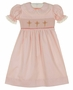 NEW Remember Nguyen (Remember When) Pink Smocked Dress with Cross Embroidery
