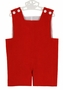NEW Remember Nguyen (Remember When) Red Fine-Wale Cotton Corduroy Monogrammable Shortall