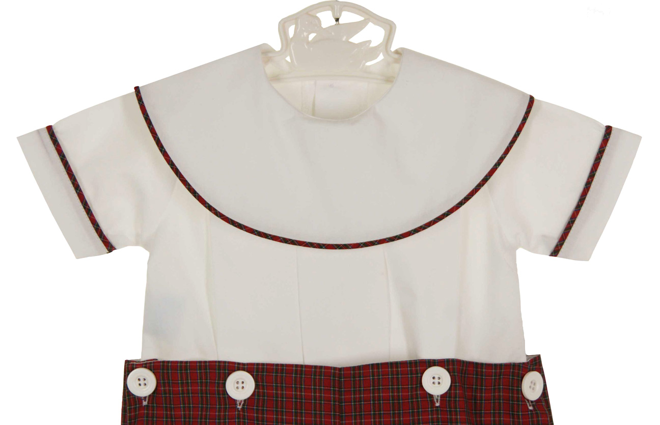 2e9b4cb8cb3 NEW Remember Nguyen (Remember When) Red Plaid Button on Shorts Set with  White Portrait Collar