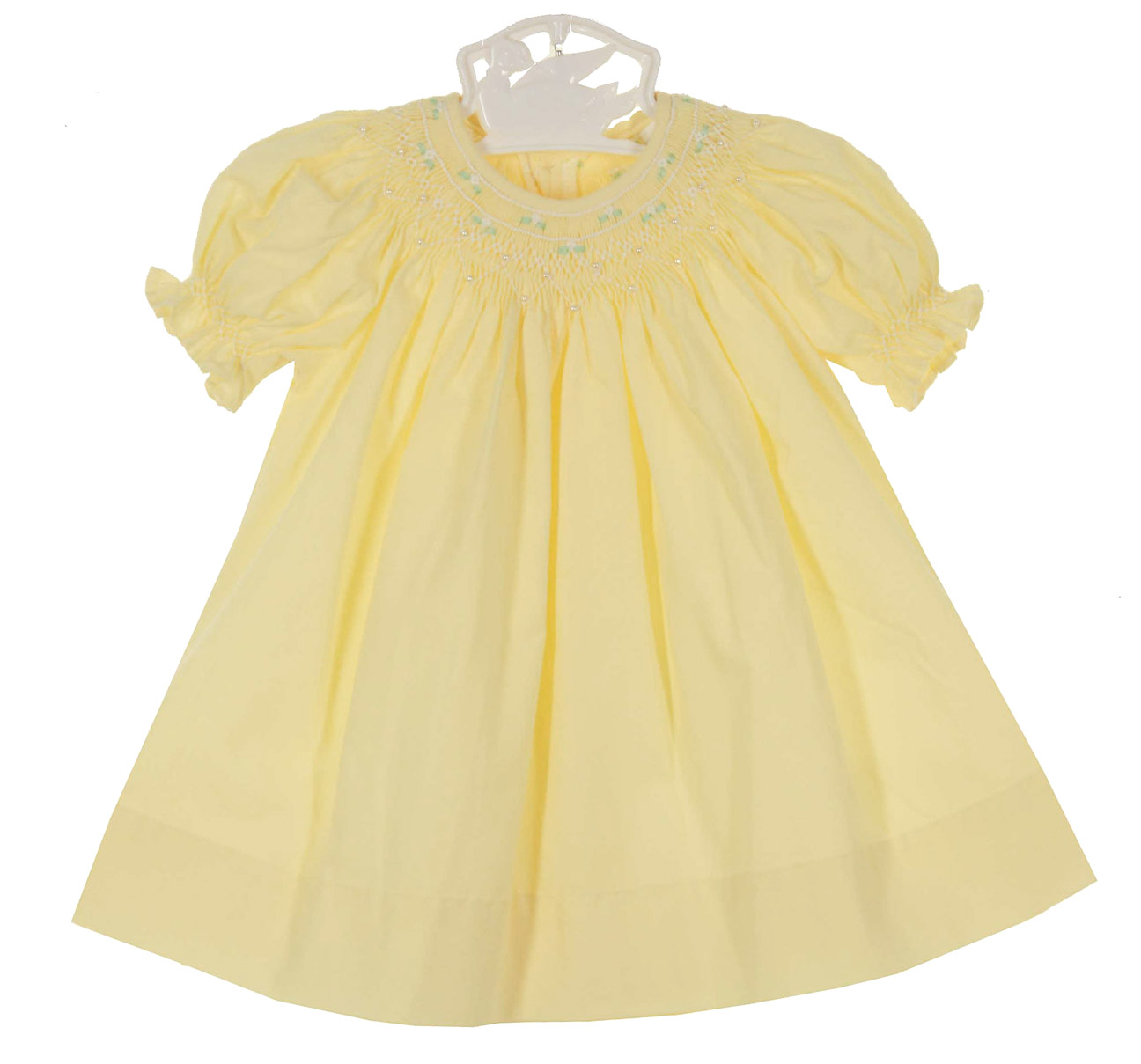 Remember Nguyen yellow bishop smocked dress with lace