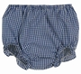 NEW Rosalina Navy Checked Gingham Monogrammable Diaper Cover