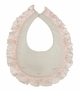 NEW Rosalina Pale Pink Smocked Bib with Delicate Pink Flowers