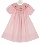 NEW Rosalina Pink Bishop Smocked Dress with Birthday Cake Embroidery
