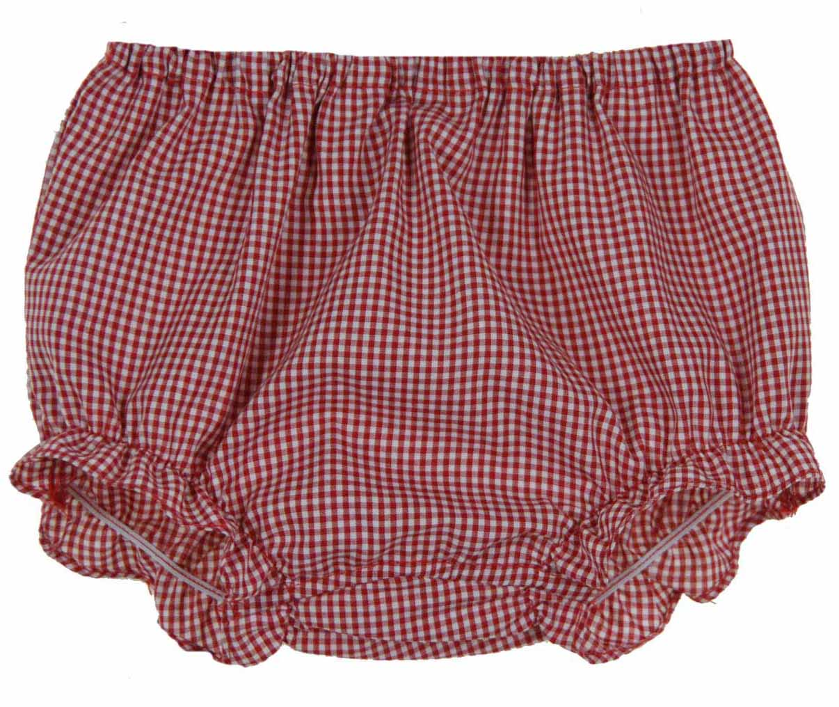 Rosalina red checked gingham ruffle bottom diaper cover,baby girls ...