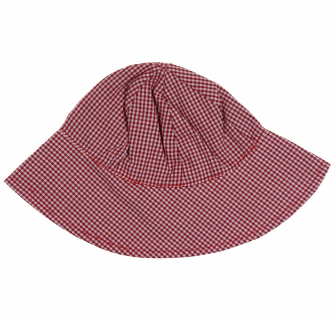 NEW Rosalina Red Checked Monogrammable Sunhat