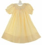 "<img src=""https://p11.secure.hostingprod.com/@grammies-attic.com/ssl/images/blue-sold-1.gif""> NEW Rosalina Yellow Checked Bishop Smocked Dress with Embroidered Lambs"