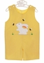 NEW Rosalina Yellow Checked Reversible Shortall with Bunny Applique