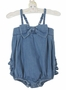 NEW Ruffle Butts Blue Denim Vintage Style Sunsuit