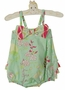 NEW Ruffle Butts Green Vintage Print Sunsuit