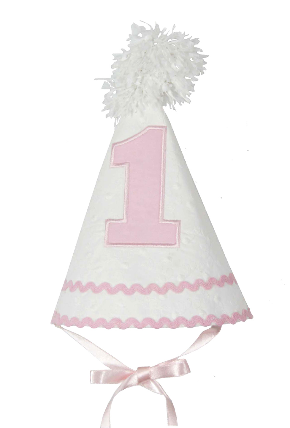 NEW Ruffle Butts White Dotted Swiss First Birthday Hat