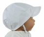 "<img src=""https://p11.secure.hostingprod.com/@grammies-attic.com/ssl/images/blue-sold-1.gif""> NEW Sarah Louise Classic White Boys Hat with Blue Embroidered Brim"