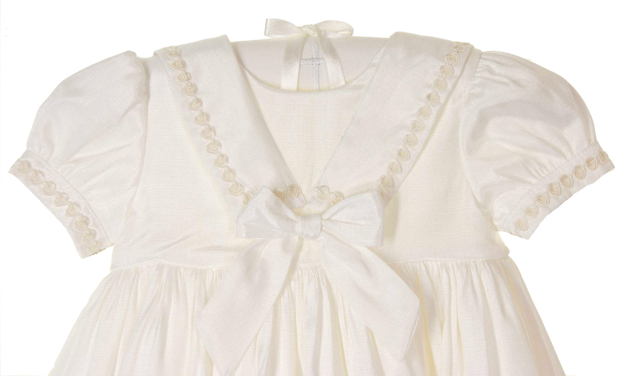 Sarah Louise ivory sailor style girls christening gown,sailor style ...