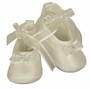 NEW Sarah Louise Ivory Silk Shoes with Pearl Trimmed Bow