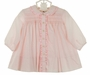 "<img src=""http://site.grammies-attic.com/images/blue-sold-1.gif""> NEW Sarah Louise Pink Smocked Daygown with Ruffled Collar"