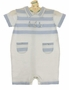 "<img src=""https://p11.secure.hostingprod.com/@grammies-attic.com/ssl/images/blue-sold-1.gif""> NEW Sarah Louise Light Blue and White Striped Cotton Knit Romper with Boat Embroidery"