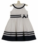NEW Sarah Louise Navy and White Sailor Dress