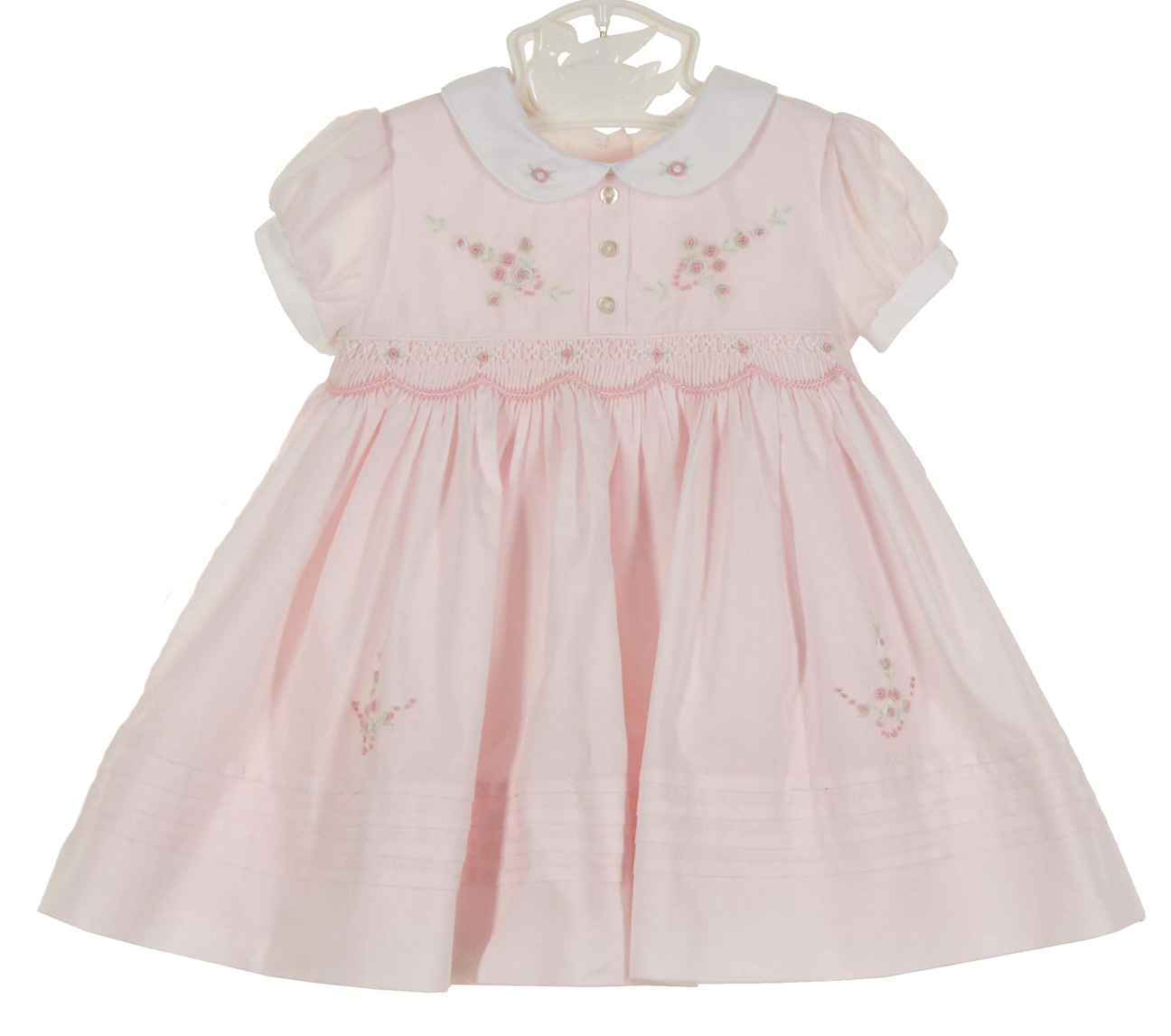 Sarah Louise Vintage Style Pink Smocked Dress Vintage