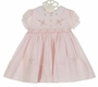 NEW Sarah Louise Pink Smocked Dress with Pintucks and Embroidered Rosebuds