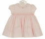 NEW Sarah Louise Pink Smocked Dress with Tiny Pink and White Embroidered Flowers