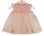 NEW Sarah Louise Pink Smocked Ruffled Dress with Matching Diaper Cover