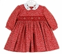 "<img src=""https://p11.secure.hostingprod.com/@grammies-attic.com/ssl/images/blue-sold-1.gif"">  NEW Sarah Louise Red Dotted Twill Smocked Dress with White Embroidered Collar"
