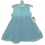 NEW Sarah Louise Teal Dress with Beaded Appliqued Flowers