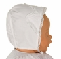 NEW Sarah Louise Vintage Style White Bonnet with Lace and White Embroidery