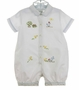 NEW Sarah Louise Vintage Style White Romper with Embroidered Chicks