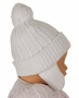 NEW Sarah Louise White Cable Knit Hat with Ear Flaps