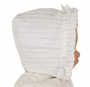 NEW Sarah Louise White Pintucked Bonnet with White Ribbon Insertion
