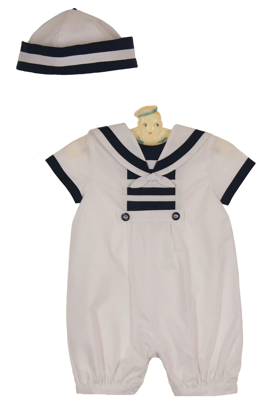 Sarah Louise Sailor Suit And Hat Set Sarah Louise Baby Boy