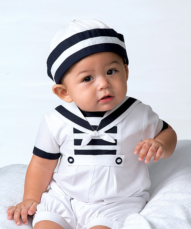 Sarah Louise Sailor Suit And Hat SetSarah Louise Baby Boy