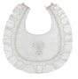 "<img src=""https://p11.secure.hostingprod.com/@grammies-attic.com/ssl/images/blue-sold-1.gif""> NEW Sarah Louise White Smocked Bib with Bow Embroidery"