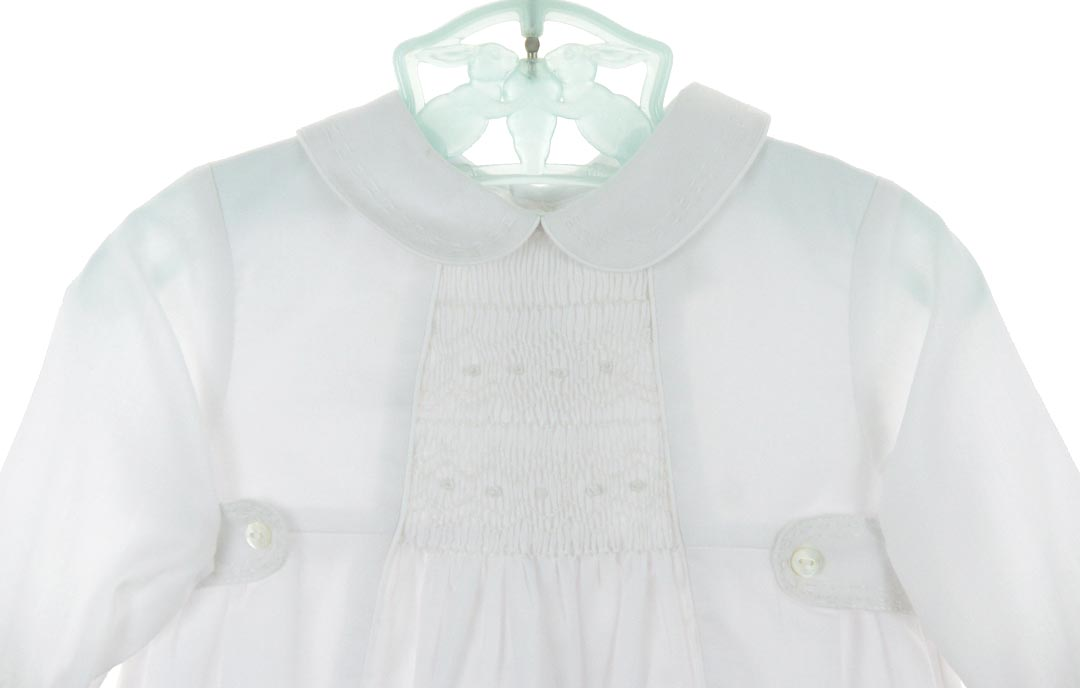Sarah Louise Smocked Baby Romper Smocked Romper For Baby
