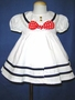 "<img src=""https://p11.secure.hostingprod.com/@grammies-attic.com/ssl/images/blue-sold-1.gif""> NEW Shirley Temple Style White Sailor Dress with Red Polkadot Bow"