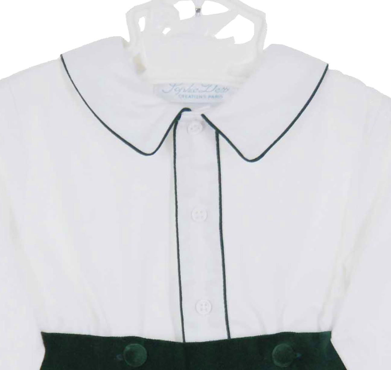 bfc2e1c90 NEW Sophie Dess Green Velvet Shorts Set with White Shirt
