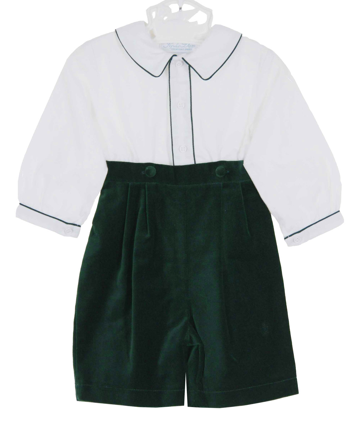 2de0a84df Sophie Dess green velvet shorts set