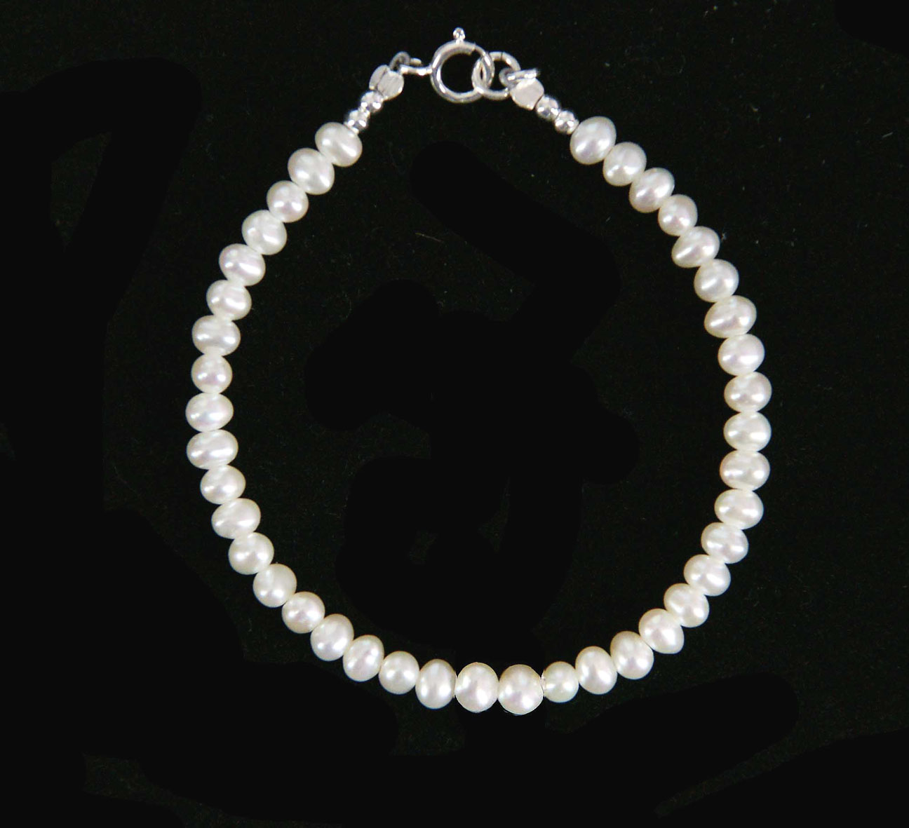 Pearl Bracelet With Sterling Silver Closure Baby Girls Pearl