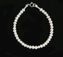 NEW Tiny Round Pearls Bracelet with Sterling Silver Closure for Babies, Toddlers, and Little Girls